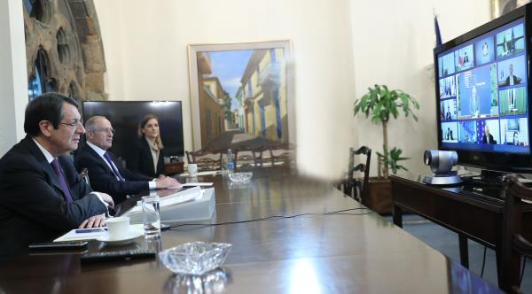 cyprus-president-in-a-videoconference-with-eu27-leaders