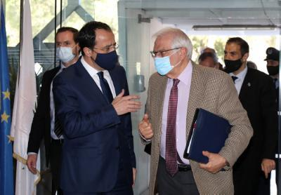 christodoulides-–-borrell-discuss-cyprus-issue,-eastern-mediterranean